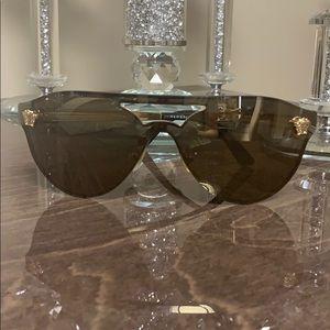Versace shield sunglasses